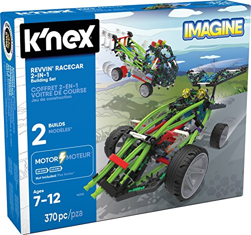 K'NEX – Revvin' Racecar 2-in-1 Building Set – 370 Pieces – Ages 7+ – Engineering Educational - Race Car Knex