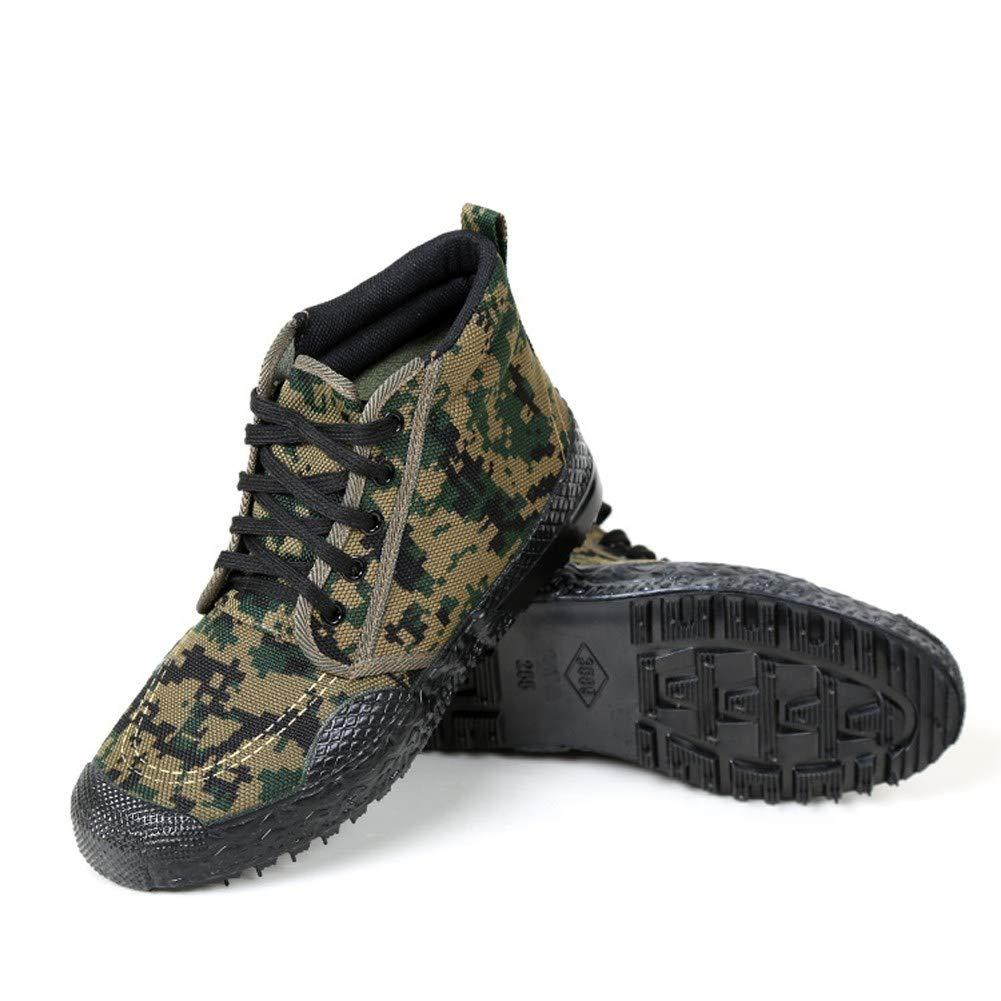 RcnryHigh Größe Camouflage Schuhe Verschleißfest Stoßdämpfend Anti-Rutsch-Canvas Gummi Schuhe Dschungel Canvas Sport Kletterschuhe