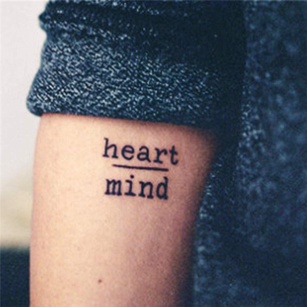 Tatuaje temporal a prueba de agua Pegatinas Coraje Miedo Corazón ...