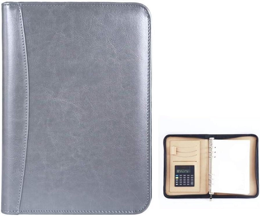 Color : Purple, Size : 253x175mm File Folder Padfolio Business Information Folder with Secure Zipper Closure Including Removable Clipboard Binder File Storage Bag Vegetarian Document Organizer