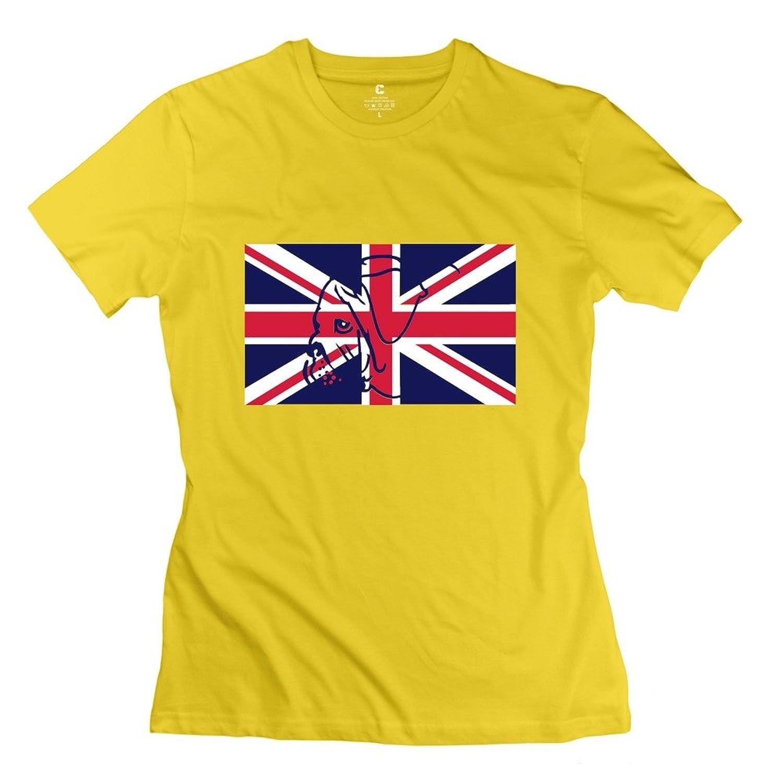 HM Women's Tees British Pug (3c) Yellow