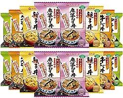 アマノフーズ フリーズドライ 化学調味料 無添加 小さめ どんぶり 4種類 各4食 合計16食 セット (まろやか麻婆なす丼 ・ 親子丼 ・ 中華丼 ・ 牛とじ丼)