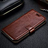 iPhone 8 Plus Flip iPhone 7 Plus Flip - Brown Wallet Flip Case Cover for IPHONE 8 PLUS 5.5' IPHONE 7 PLUS 5.5' (NOT FIT FOR IPHONE 7 & 8 4.7 INCH)