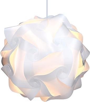 kwmobile Lámpara puzzle DIY 30 piezas - Lámpara de techo blanca ...