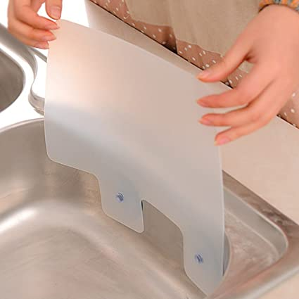 Estante para fregadero con ventosa, placa de retención de agua, para piscina, cocina, baño, accesorios de cocina, gadgets con ventosa: Amazon.es: Hogar