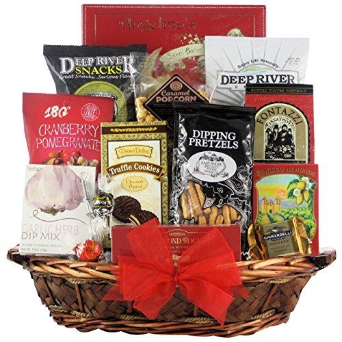 GreatArrivals Gift Baskets Snack Attack Gourmet Snack Basket, Medium, 4 Pound 8' Whisk
