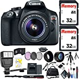 Canon EOS Rebel T6 DSLR Camera 18-55mm Lens Flash, Two Memory Cards, Bag, Cleaning Kit More Accessories Combo Kit