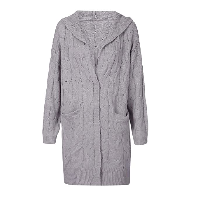 Suéter de Punto de Mujer, LANSKIRT Mujeres Manga Larga Oversized sección Color Bolsillo Suéter de Punto Suelto Chaqueta Outwear de Cardigan: Amazon.es: Ropa ...