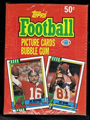 1990 Topps Football Wax Pack Box FACTORY SEAL Joe Montana Jerry Rice POSTER ()