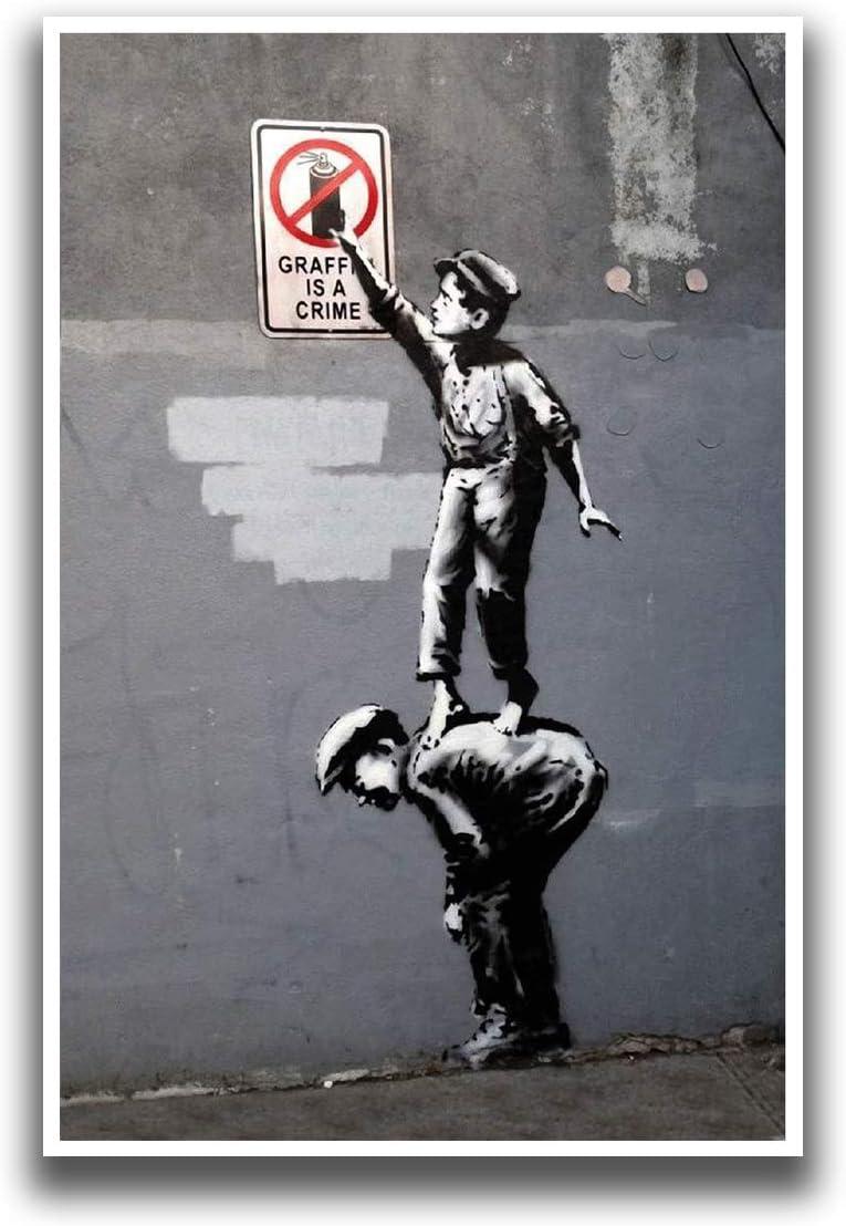 Banksy Monkey Director graffiti street art premium 20 x 30 inch Canvas Print