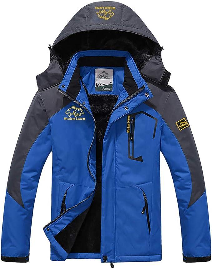 YSENTO Mens Mountain Waterproof Windproof Fleece Ski Snow Hiking Fishing Camping Jackets Coats