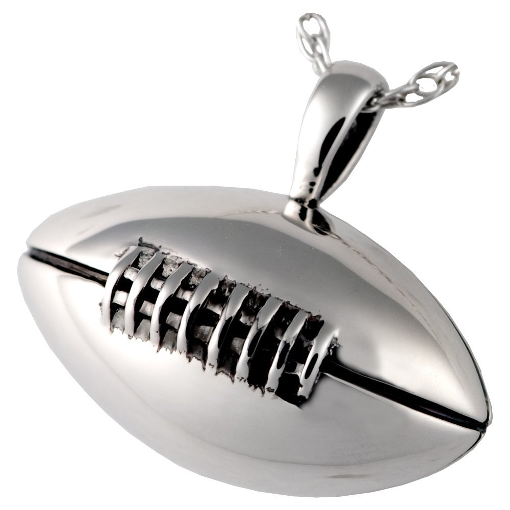 Memorial Gallery MG-3153s Football Sterling Silver Cremation Pet Jewelry