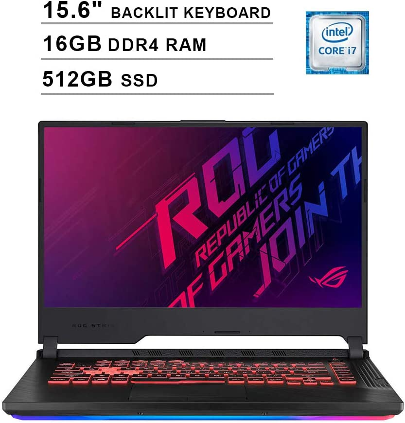2020 Asus ROG Strix G 15.6 Inch 120Hz FHD 1080P Gaming Laptop (Intel 6-Core i7-9750H up to 4.5 GHz, GeForce GTX 1650 4GB, 16GB DDR4 RAM, 512GB SSD, Backlit KB, WiFi, HDMI, Win 10)