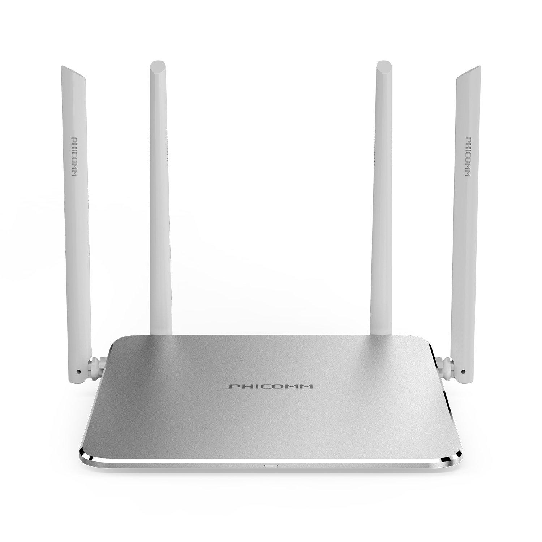 PHICOMM KE 2P AC1300 Dual Band Wi-Fi Gigabit Smart Router (Space Silver)