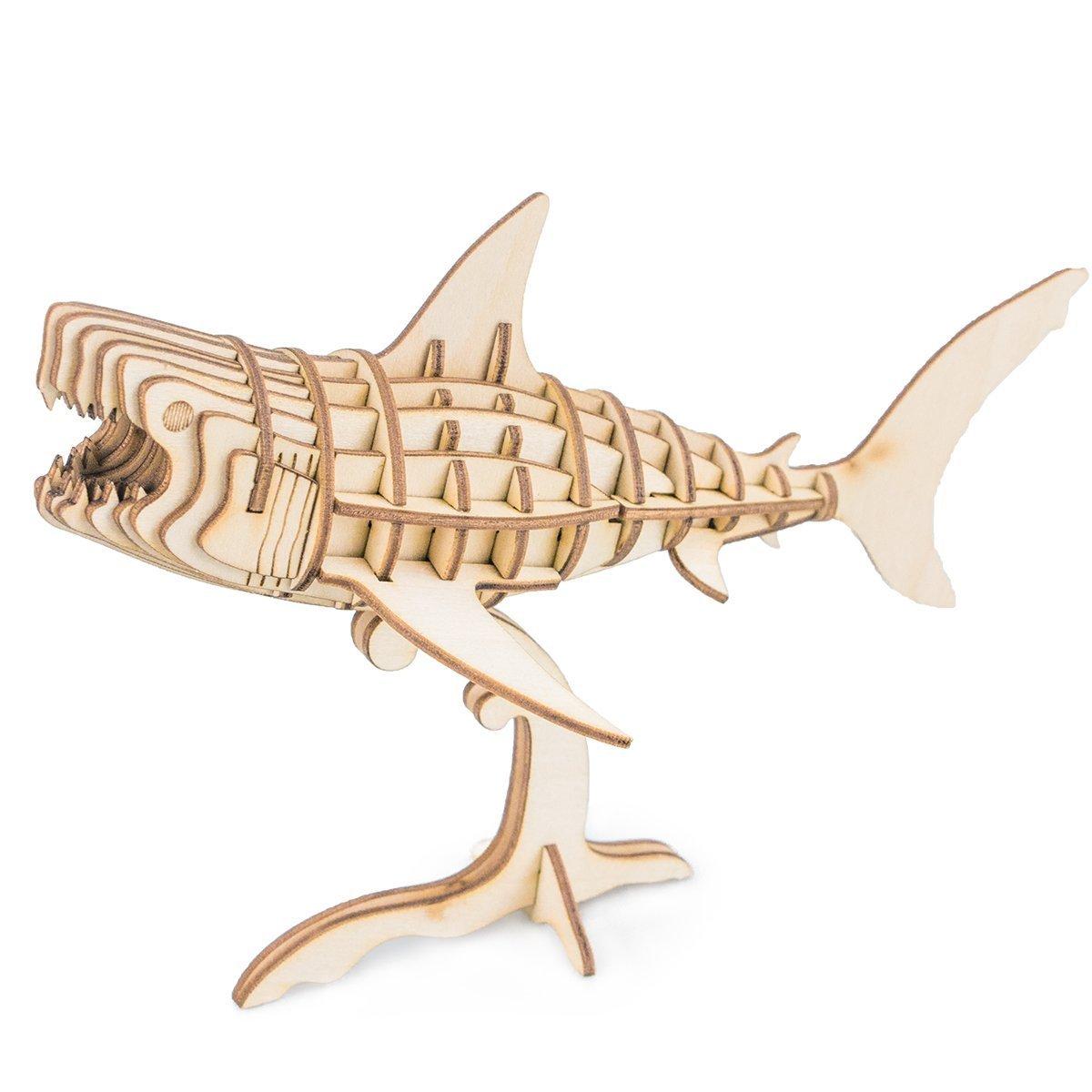 【楽天スーパーセール】 Adorn Life 3d木製パズルDIYモデルトイシミュレーション動物アセンブリゴリラホーム装飾と練習忍耐力を強化するaccomplishment子供と大人のセンス Adorn Sea animals Adorn サメ Life Sea animals Life サメ B077HFB3N7, シウラムラ:7f1b860e --- clubavenue.eu