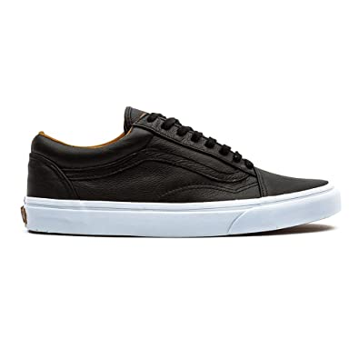 Unisex (Premium Leather) Old Skool Black Skate Shoes