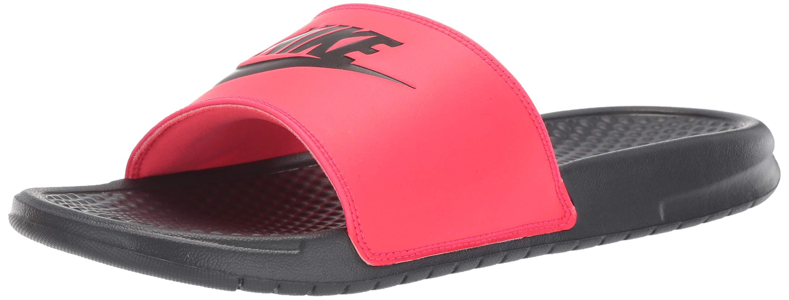 Nike Men's Benassi Just Do It Sandal red Orbit/Black - Anthracite 9 Regular US