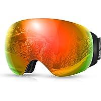SKL Skidglasögon, OTG snowboardglasögon, snöglasögon med magnetisk utbytbar sfärisk lins, anti-imma och UV400-skydd och…