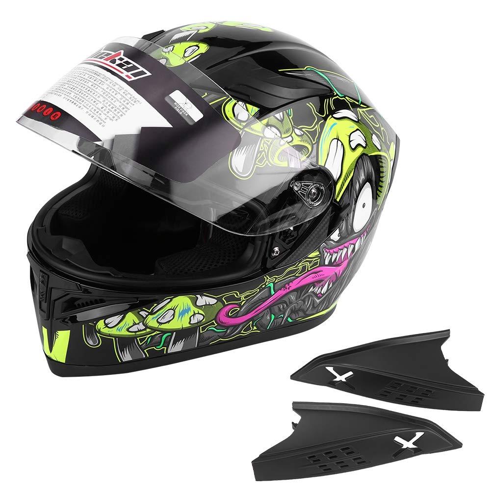 M Duokon casco de bicicleta de motocicleta doble visera universal cara completa motocicleta casco de bicicleta de calle mejora seguridad engranaje protector