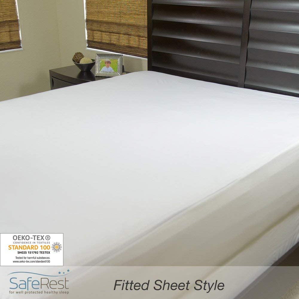 SafeRest Queen Size Classic Plus Hypoallergenic 100% Waterproof Mattress Protector - Vinyl Free by SafeRest (Image #5)