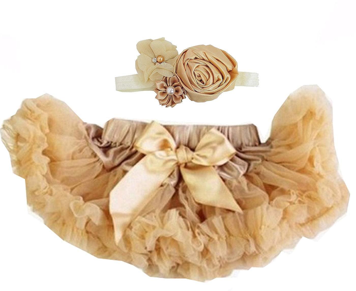 Kirei Sui Baby Goldenrod Pettiskirt & Vintage Flower Headband Set WZ9BHBZ1A