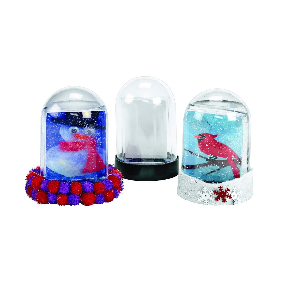 Colorations SNOWDOME Create Your Own Snow Globe (Pack of 12)