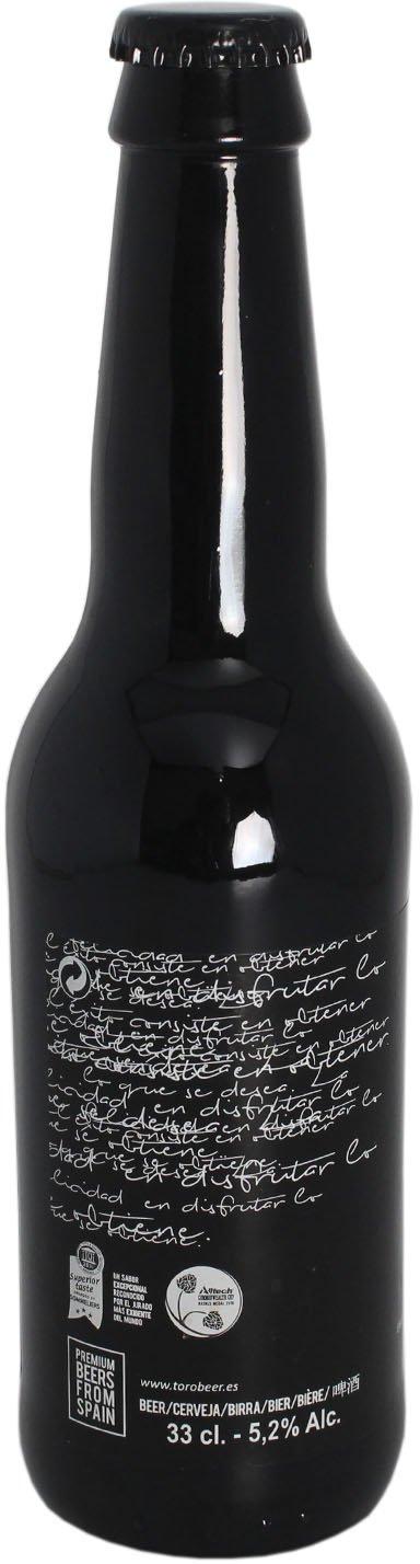Pack 24 Cerveza artesanal Toro, botella de 33 cl, envejecida con barrica de Jerez Pedro Ximenez, aroma dulce y fresco, calidad Premium: Amazon.es: ...