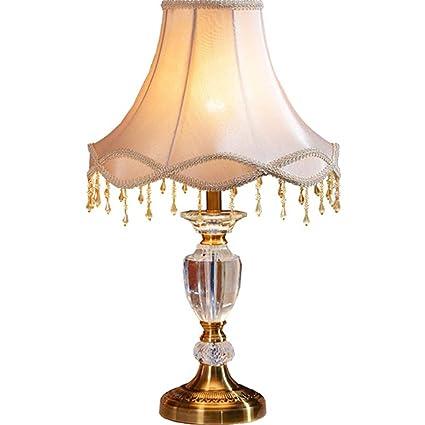 SHAOHUAYING Lámpara de Mesa de Cristal de Lujo Europeo ...
