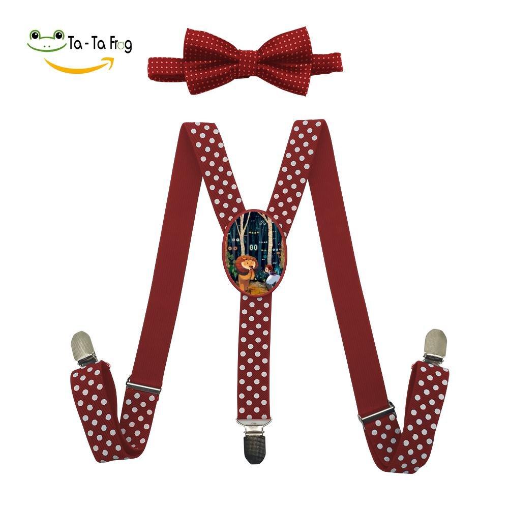Xiacai The Wonderful World Suspender/&Bow Tie Set Adjustable Clip-On Y-Suspender Boys