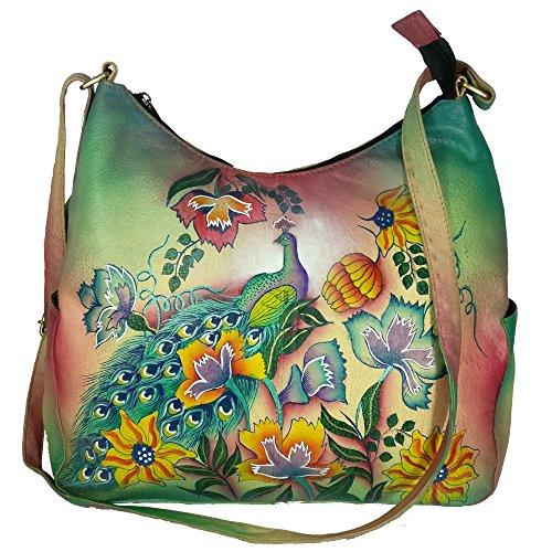 Charmeine Women's Leather Shoulder Bag Painted 38 cm x 33.2 cm x 12 cm Multi Color by Charmeine