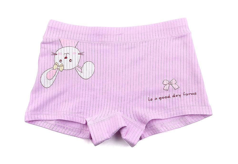 5PCS//lot Girls Cartoon Panties Lovely Rabbit Underwear Kids Underpants Baby Toddlers Briefs 3-13 Years