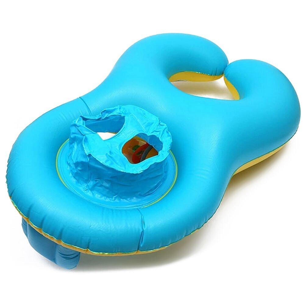 Inflable Bebé Asiento,BeautyPO Inflable Madre Bebé Piscina natación anillo,Bebé Inflable Juguetes de Piscina con Silla de Seguridad para la Actividad ...
