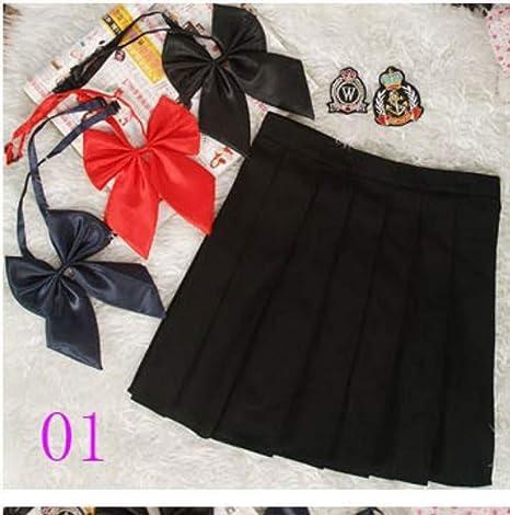 HEHEAB Falda,Moda Negro De Cintura Alta Falda Plisada Corta ...