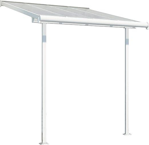 Chalet-Jardin 12 – 131314 tejado couv terraza Aluminio Blanco 232 ...