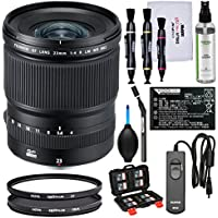 Fujifilm GF 23mm f/4.0 R LM WR Lens with NP-T125 Battery + 2 UV & CPL Filters + Remote + Kit