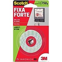 3M, Fixa Forte, Scotch, Fita Dupla Face, Espuma, 12 MM x 1,5 M