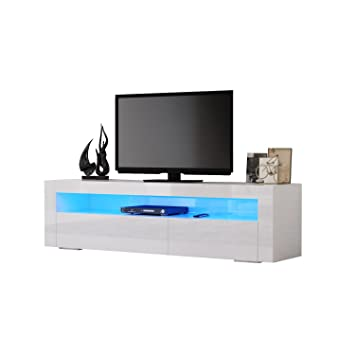 Hst Mall Modern Tv Stand 155cm Tv Cabinet Unit High Amazoncouk