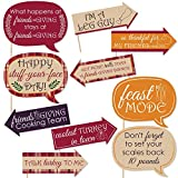 Funny Friends Thanksgiving Feast - Friendsgiving Photo Booth Props Kit - 10 Piece