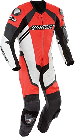Motorcycle New Red//Black One piece Track Racing Suit CE Approved Protection M