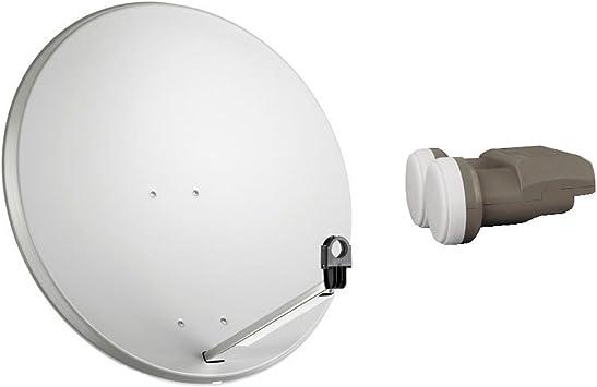Antena parabólica Antena Satélite 80 cm LNB monobloque ...