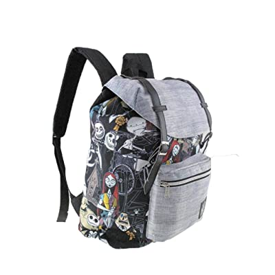"Disney Nightmare Before Christmas Pattern Vintage Style 16"" School Backpack 