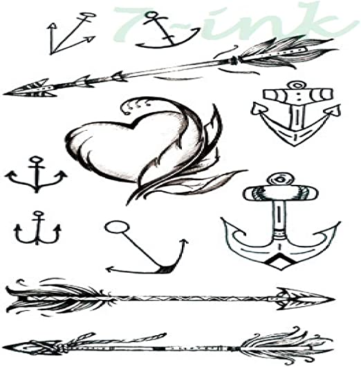 5piezas Impermeable Tatuaje Temporal Pegatina Nota Musical Falso ...