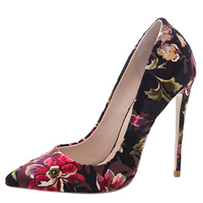 18c3058d07d Show Shine Women s Fshion Floral Stilettos High Heel Dress Shoes (4.5