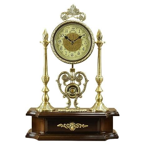 Relojes de mesa Sala de Estar Decoración Números Reloj de Escritorio Antiguo Sin tictac Operado a