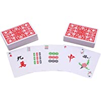 144 Mahjong Tile Set Travel Card Game Chinese Traditional Mahjong Games, Portable Size and Light-Weight