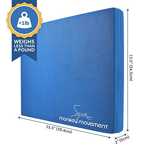 Monkey Movement Balance Pad | Balance Board | Stability Cushion - All in One Foam Wobble Trainer for Physical Therapy, Rehab & Strength Training, Knee Pad, and Meditation Pillow