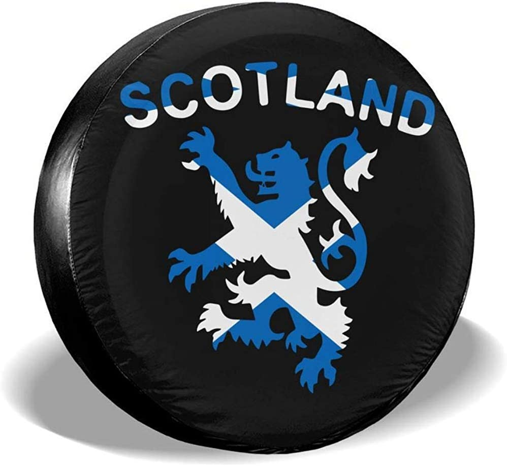 Olive Croft Lion Rampant Scotland Scottish Tire Covers Car SUV Auto Spare Tire Tyre Cover 15inch