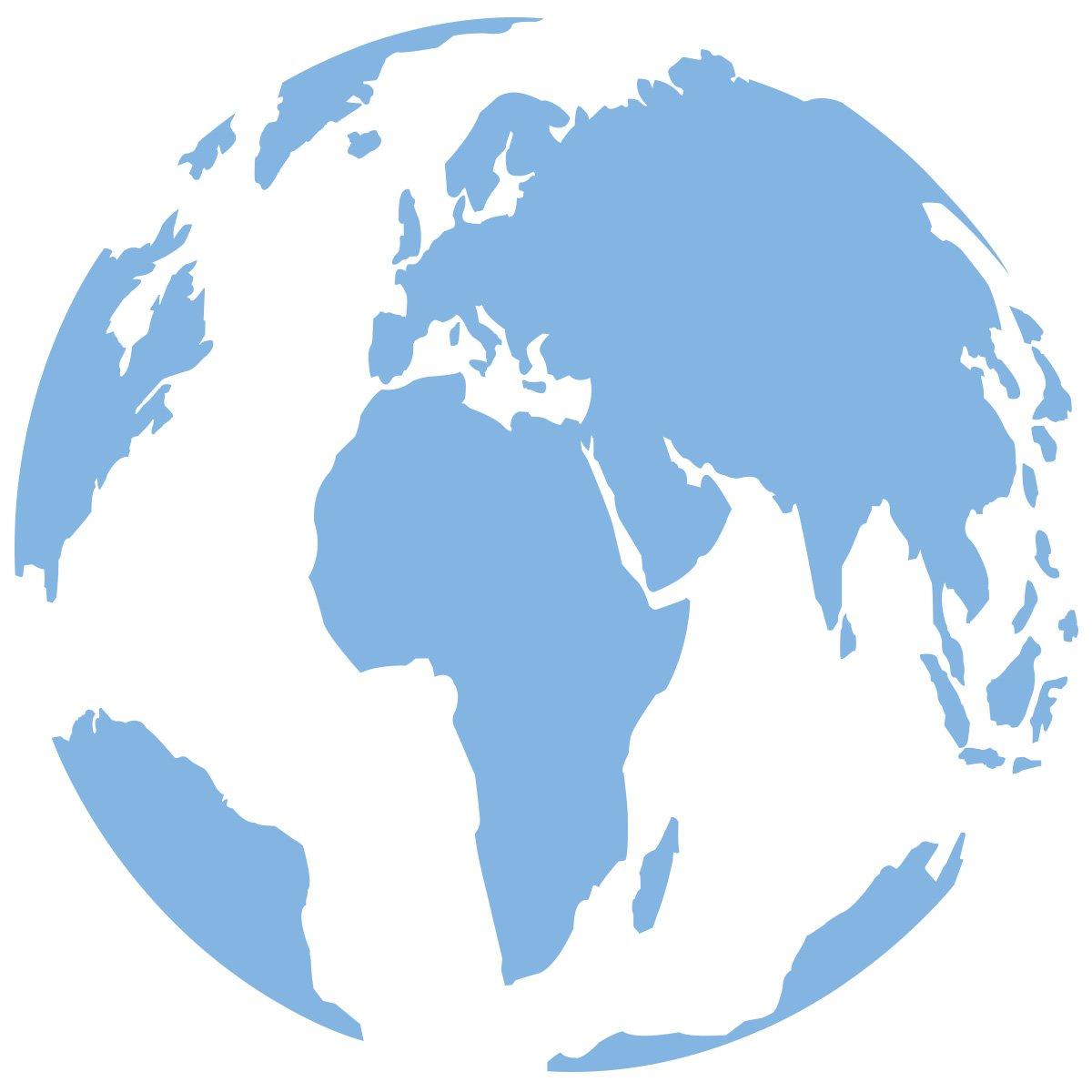 WANDKINGS Wandtattoo - Globus - - - 90 x 90 cm - Kupfer - Wähle aus 5 Größen & 35 Farben B078YF4ZJW Wandtattoos & Wandbilder 3410a0