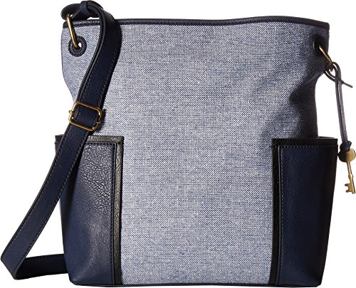 Fossil Lane N/S Crossbody Bag, Blue Multi