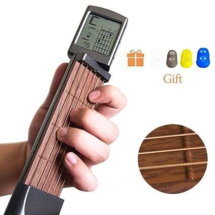 Amazon.com: Pocket Digital Guitar Chord Trainer Tool with ...